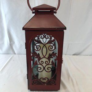 """22"""" Lantern with Flickering Flame and Timer"""
